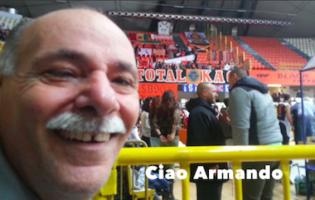 BUON COMPLEANNO ARMANDO, CUORE NERO-ARANCIO