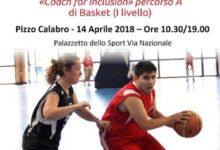 BASKET E SOCIALE: IL 14 APRILE 2018 CORSO DI FORMAZIONE A PIZZO CALABRO