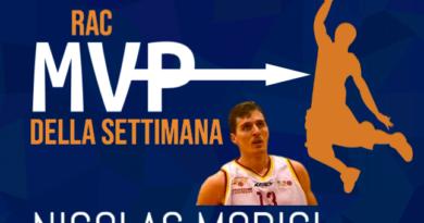 L'MVP DELLA SETTIMANA E' NICO MORICI