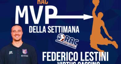 L'MVP RAC DELLA SETTIMANA E' FEDERICO LESTINI