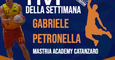 L'MVP DELLA SETTIMANA E' GABRIELE PETRONELLA