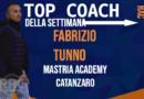 IL TOP COACH DELLA SETTIMANA E' FABRIZIO TUNNO