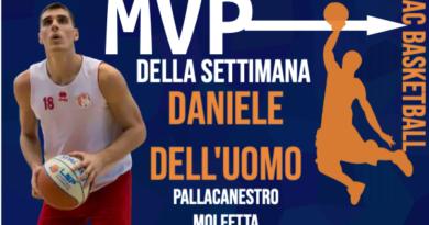 L'MVP DELLA SETTIMANA E' DANIELE DELL'UOMO