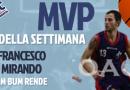L'MVP DELLA SETTIMANA E' MIRANDO