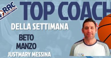 IL TOP COACH DELLA SETTIMANA E' BETO MANZO